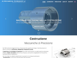Sito Web AS Mechanical Meccanica di Precisione by Digital Art #1
