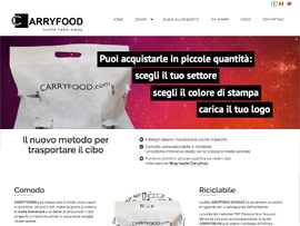 Sito Web eCommerce Carryfood Buste Alimentari Personalizzabili by Digital Art #1
