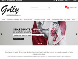 Sito eCommerce Foto/Riprese e Social Marketing CreazioniByGolly Foulard e Parei di seta dipinti a mano Made in Italy by Digital Art #2